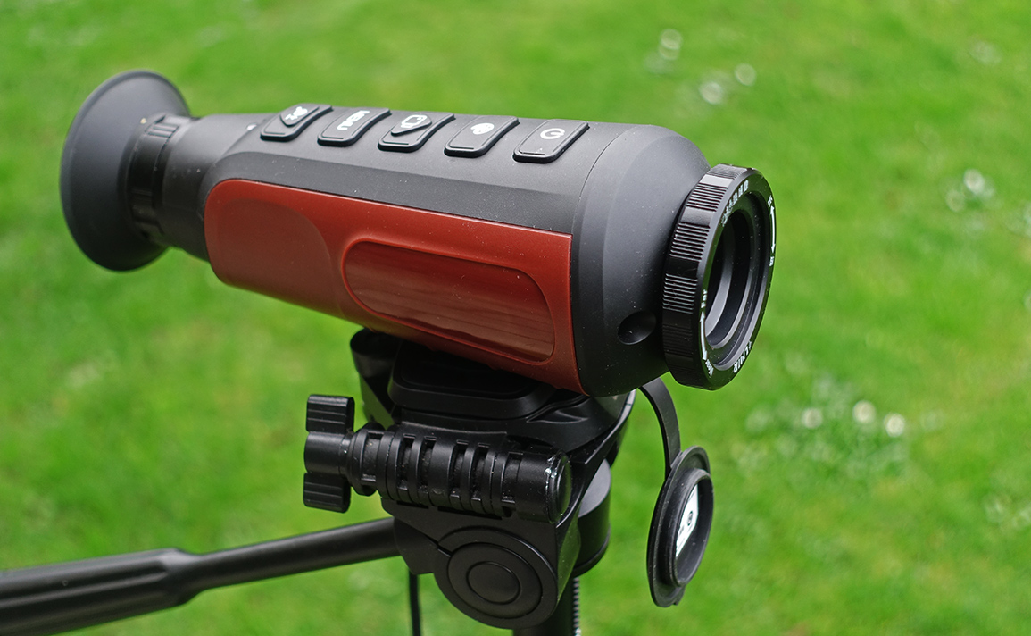 LM6P thermal camera mounted on a tripod