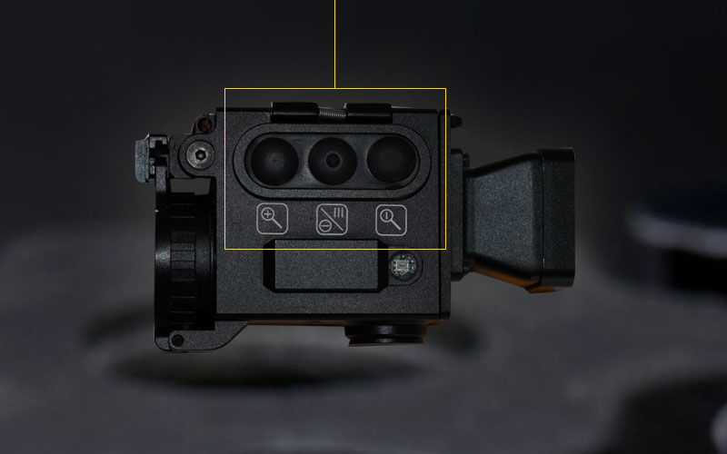 Button layout of the IR&D Micro 2 Thermal Imaging Camera