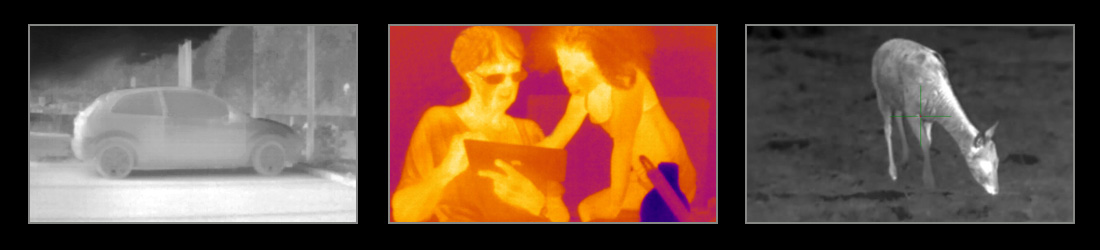 Various thermal imaging shots